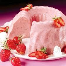 Sobremesa de gelatina cremosa