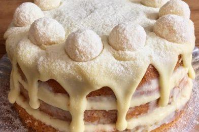 Cobertura para bolo com creme de leite