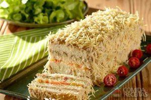 Torta de pão de forma simples