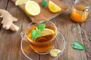 Chá de limão para gripe