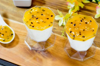 Mousse de maracujá com gelatina delicioso