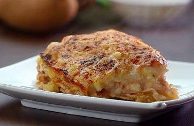 Batata gratinada com frango deliciosa