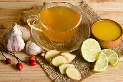 Chá de limão para gripe infalível