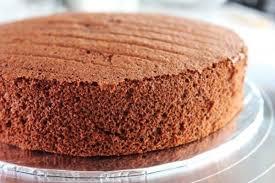 Receita de bolo pão de ló de chocolate