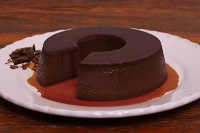 Flan de chocolate delicioso