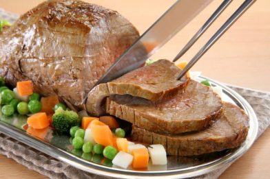 Carne assada no forno deliciosa