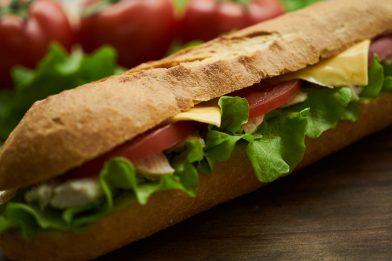 Pão de metro delicioso
