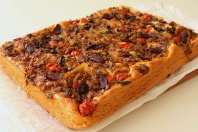 Receita de pizza de sardinha simples e rápido