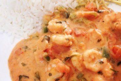 Strogonoff de camarão muito gostoso