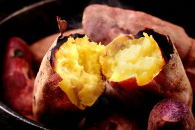 Batata doce no microondas rápido e fácil