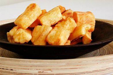 Aipim frito super crocante