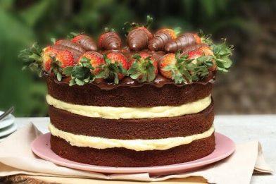 Bolo naked cake delicioso