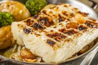 Bacalhau na brasa delicioso
