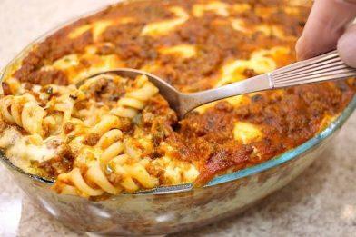 Receita deliciosa de macarrão diferente no forno