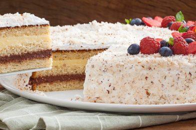 Receita de pão de ló para bolo de aniversário