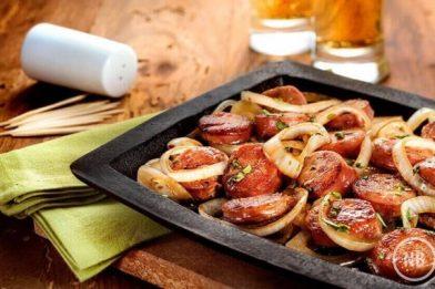 Receita deliciosa de linguiça de forno