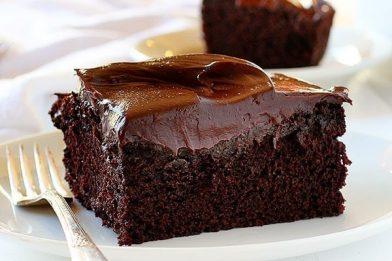 Simples bolo de chocolate fit