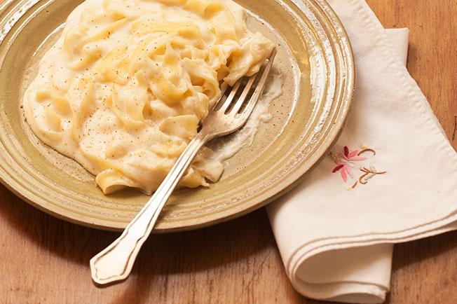 receita de macarrão com molho branco