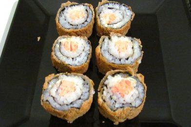 Receita de sushi com cream cheese