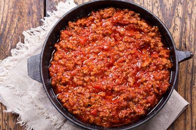 Carne moída com tomate muito deliciosa